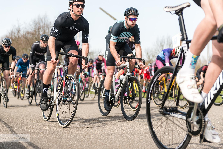 Start van de eerste race van de NL Crit Series 2018