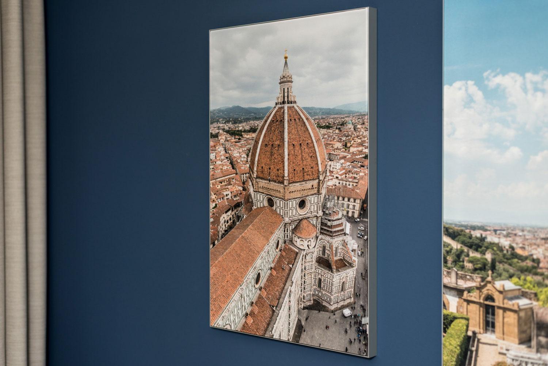 De dom in Florence als textielprint ter aankleding van een kamer