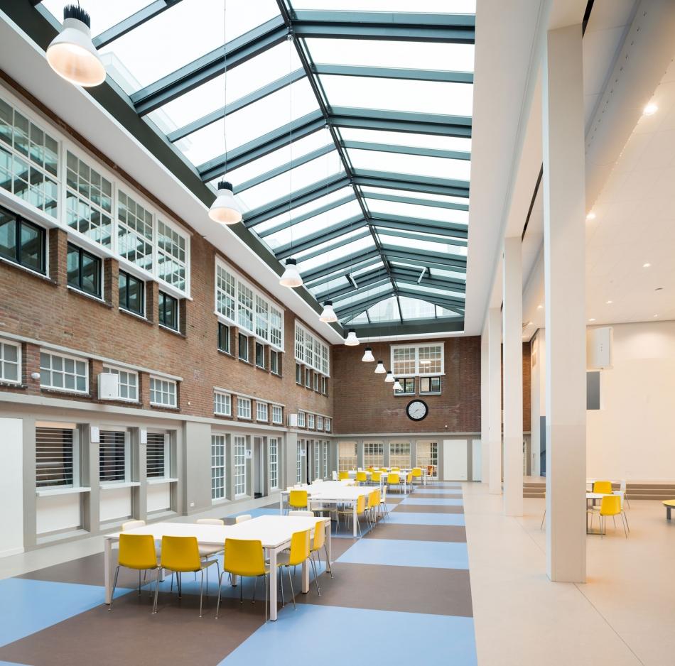 Foto van het interieur van een lyceum