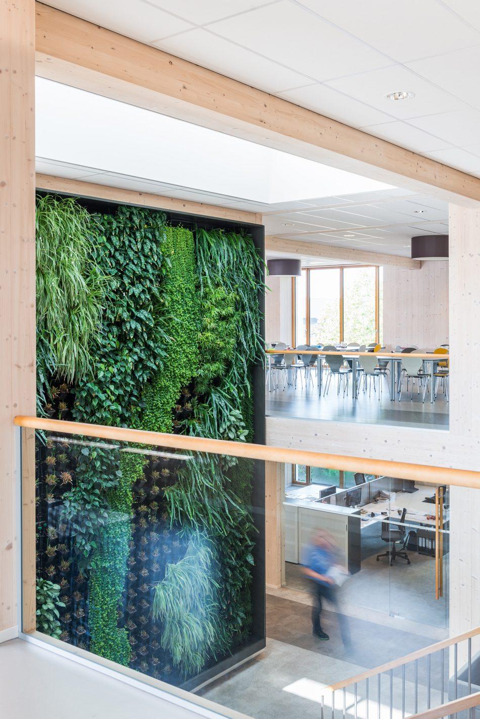Interieurfotografie van duurzaam kantoor
