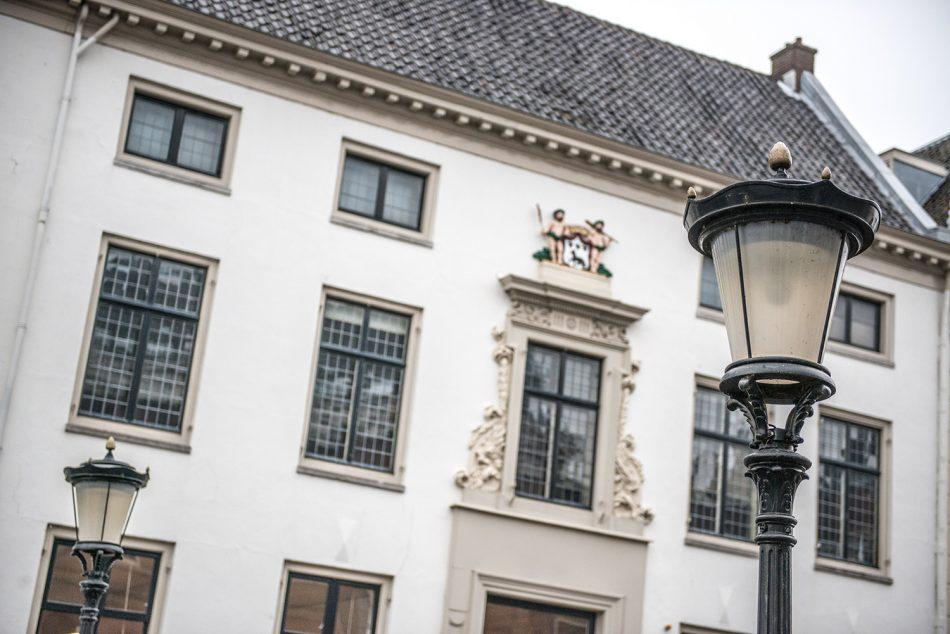 Gevel en lantaarn Koorschool Utrecht