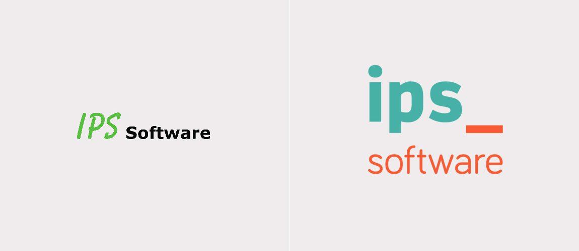 Links Het Oude Logo, Rechts Het Nieuwe Logo Van IPS Software Bv