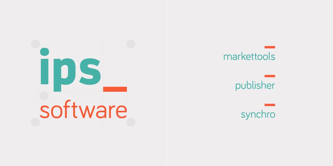 Het nieuwe logo van IPS software bv en enkele varianten