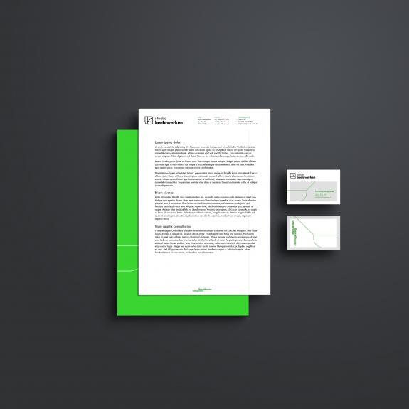 Nieuw briefpapier en visitekaartjes voor Studio Beeldwerken