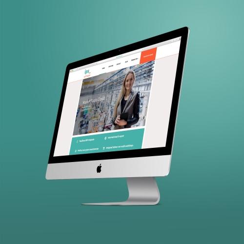 Mockup Van De Nieuwe Website Van IPS Software Bv
