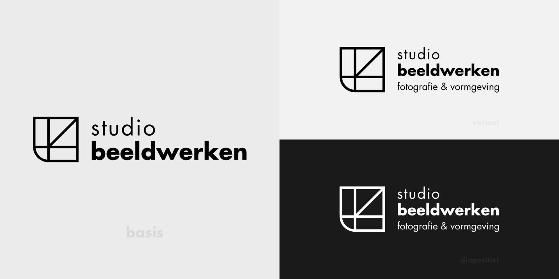 Het logo van studio beeldwerken met twee varianten