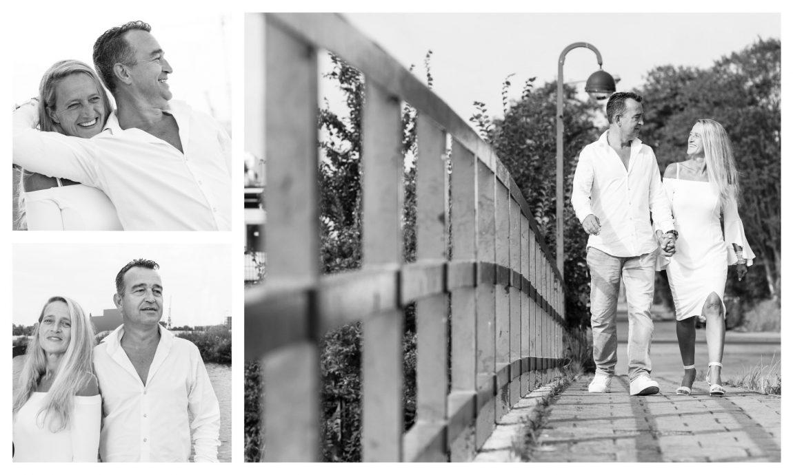 Collage Van Drie Portretfoto's In Zwart Wit