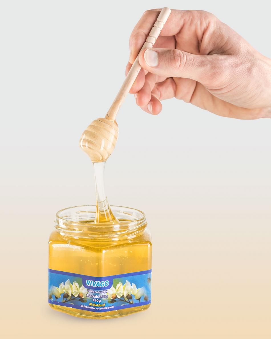 Productfoto van een honingpot