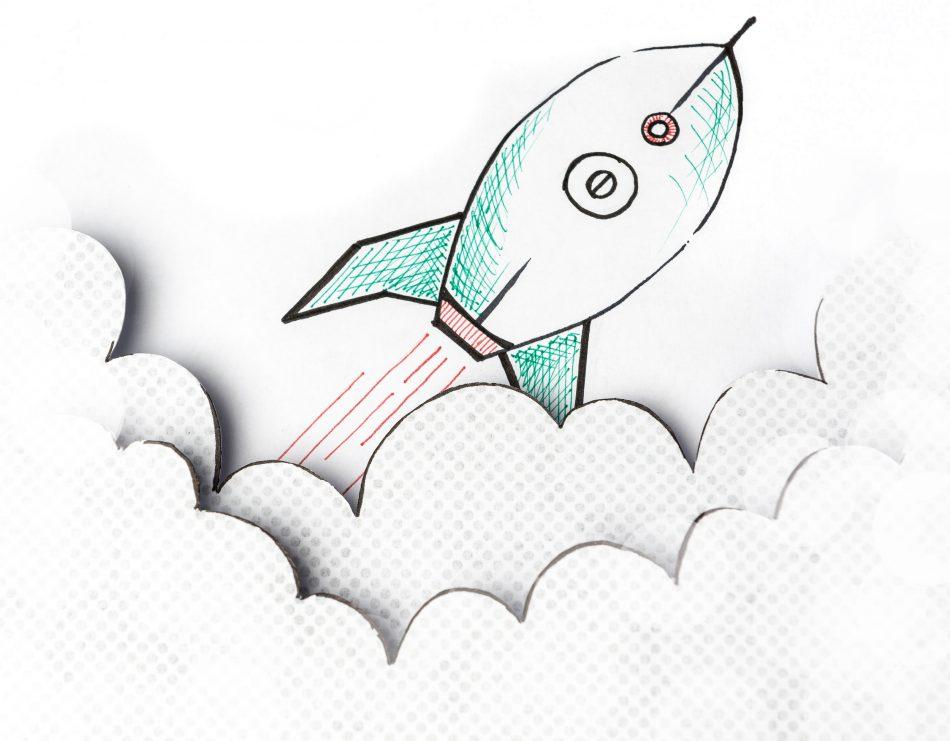 Fotografie van een raket illustratie