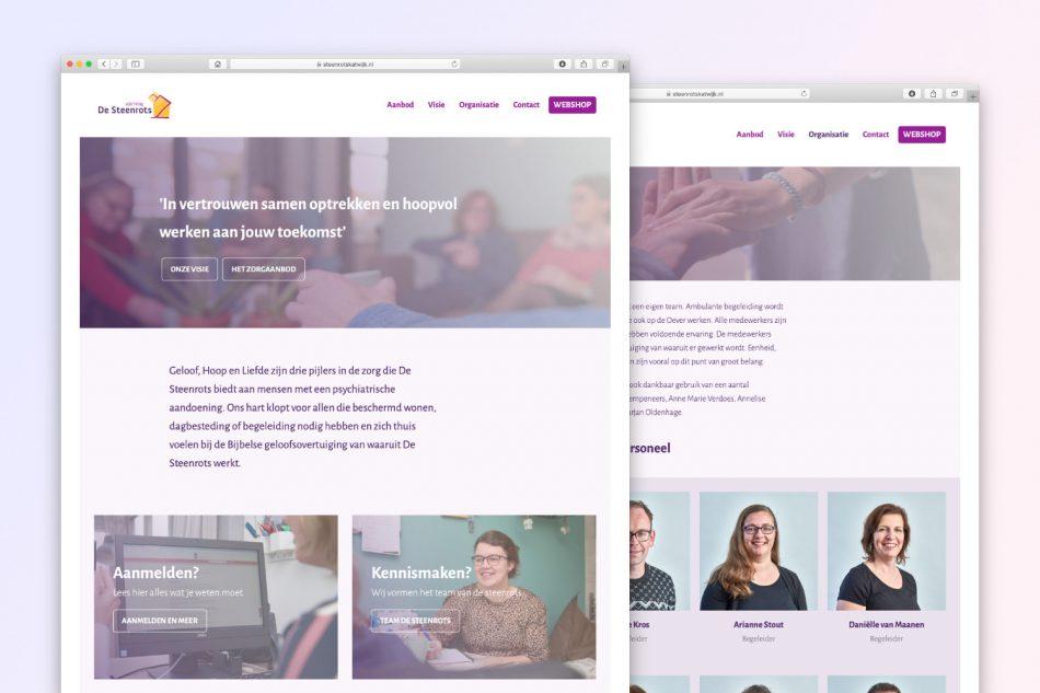 Nieuw webdesign voor Stichting De Steenrots