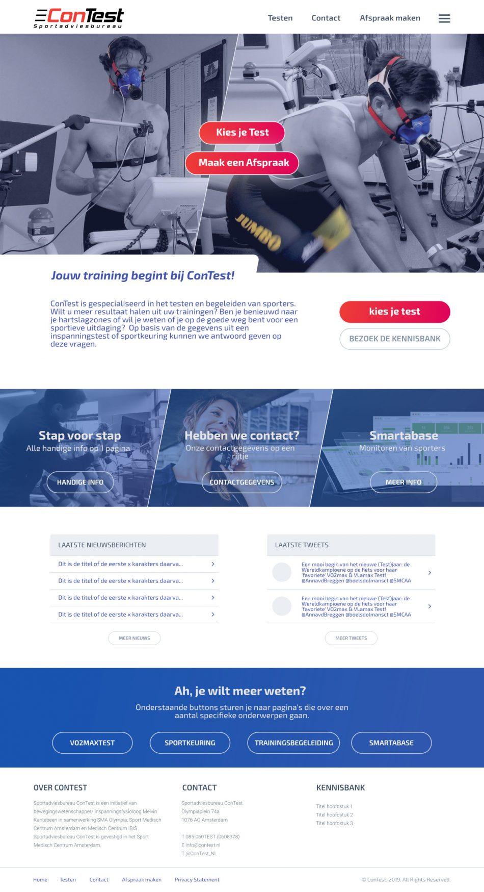 Afbeelding van de nieuwe ConTest website