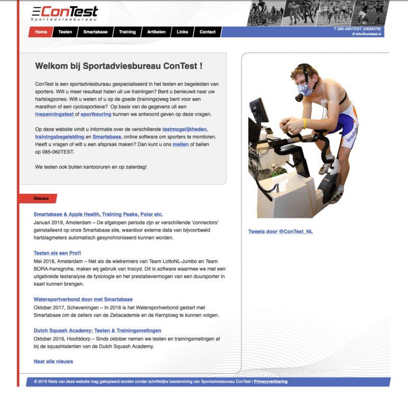 Screenshot Van De Oude ConTest Website